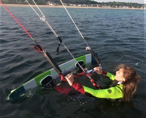 départ waterstart kite